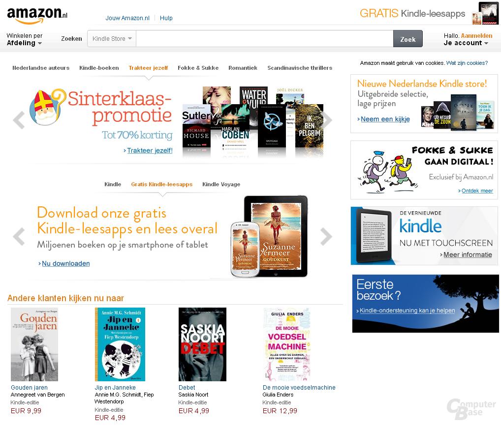 Amazon startet mit amazon.nl in den Niederlanden