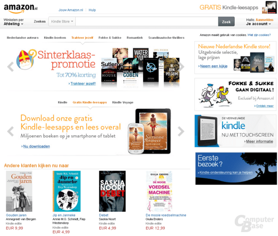 Amazon startet mit amazon.nl in den Niederlanden