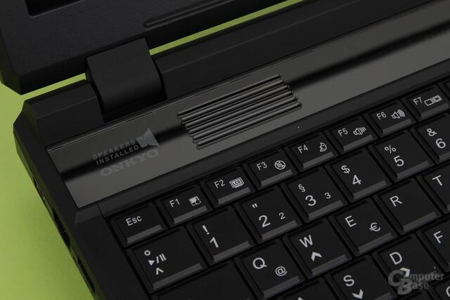Schenker XMG P504 Pro – Onkyo-Lautsprecher
