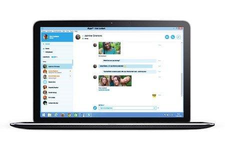 Skype for Web läuft im Browser