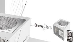 Sea Sonic Snow Silent: 1.050 Watt bis 50 Prozent Last lüfterlos gekühlt