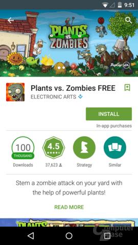 Spiel mit In-App-Käufen im Google Play Store