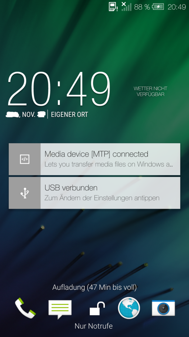 Android 5.0 auf dem HTC One (M8)