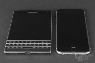 BlackBerry Passport im Vergleich zum iPhone 6