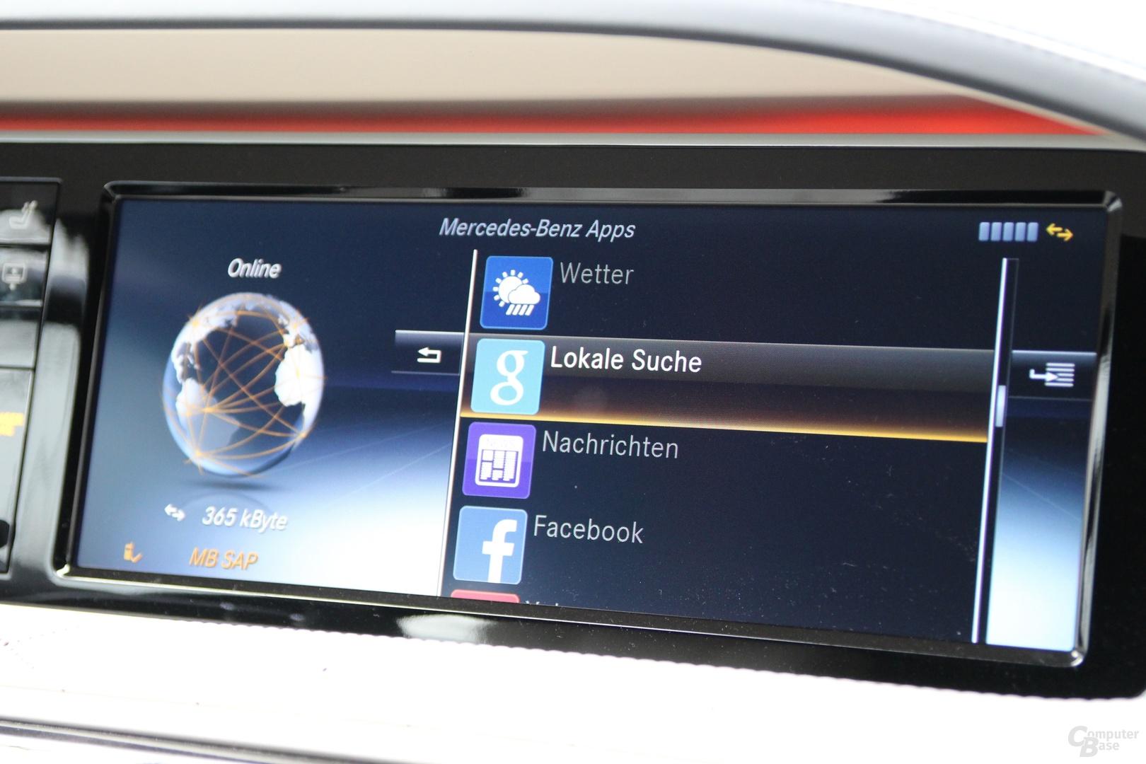 Das App-Angebot von Mercedes-Benz hält sich stark in Grenzen