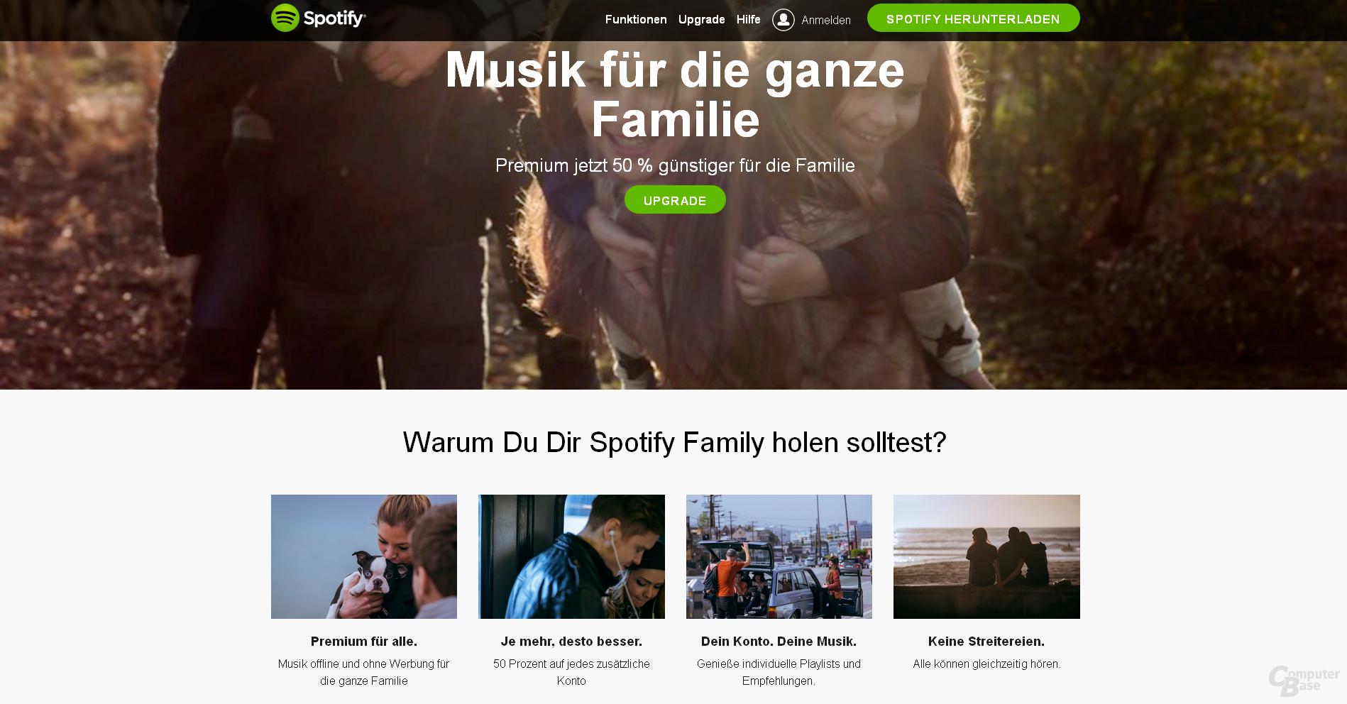 Spotify Family ab sofort in Deutschland verfügbar