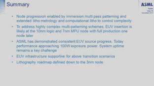 EUV-Start erst ab 10/7 nm und darüber hinaus