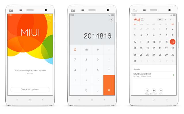 Xiaomi MIUI V6 auf Basis von Android 4.4 KitKat