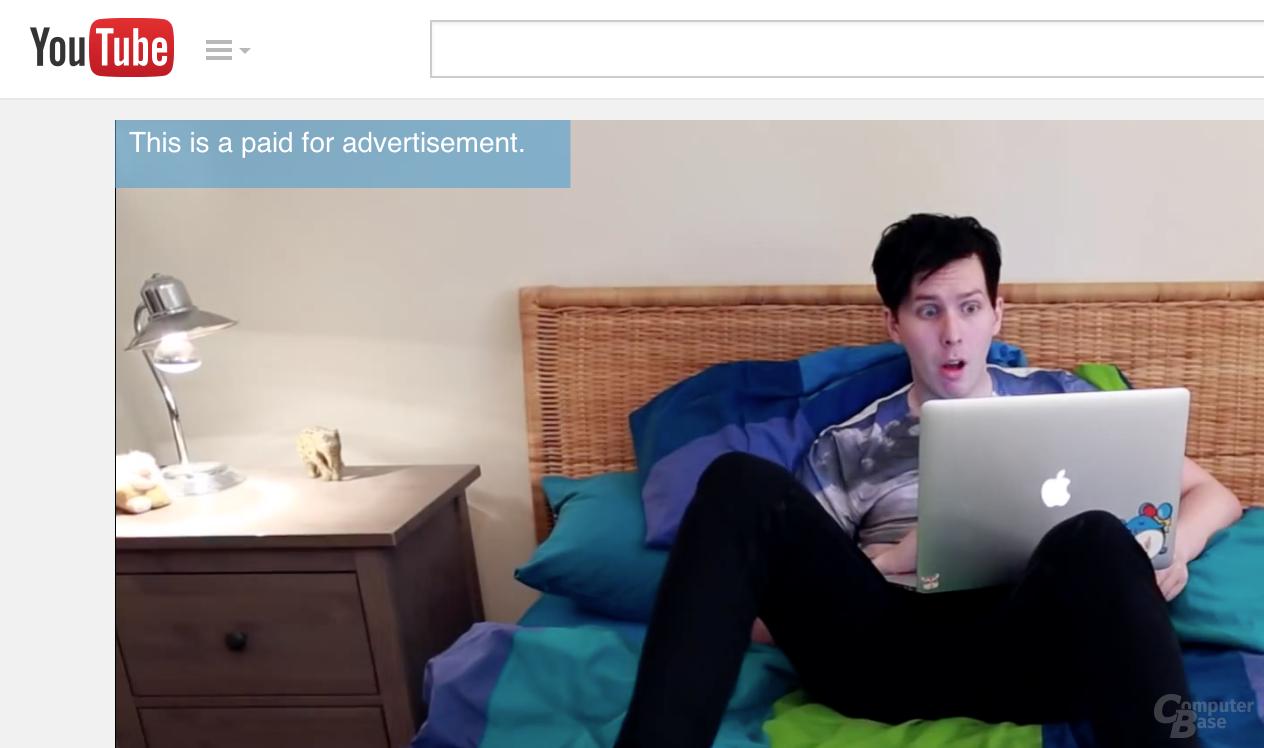 Ab sofort sind die Videos deutlich als Anzeige gekennzeichnet