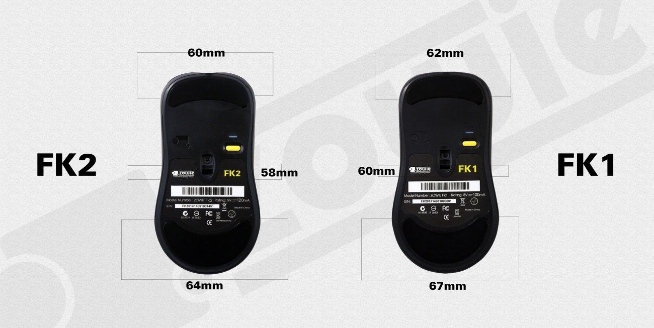 Zowie Gear FK 2 im Größenvergleich zur Gear FK 1
