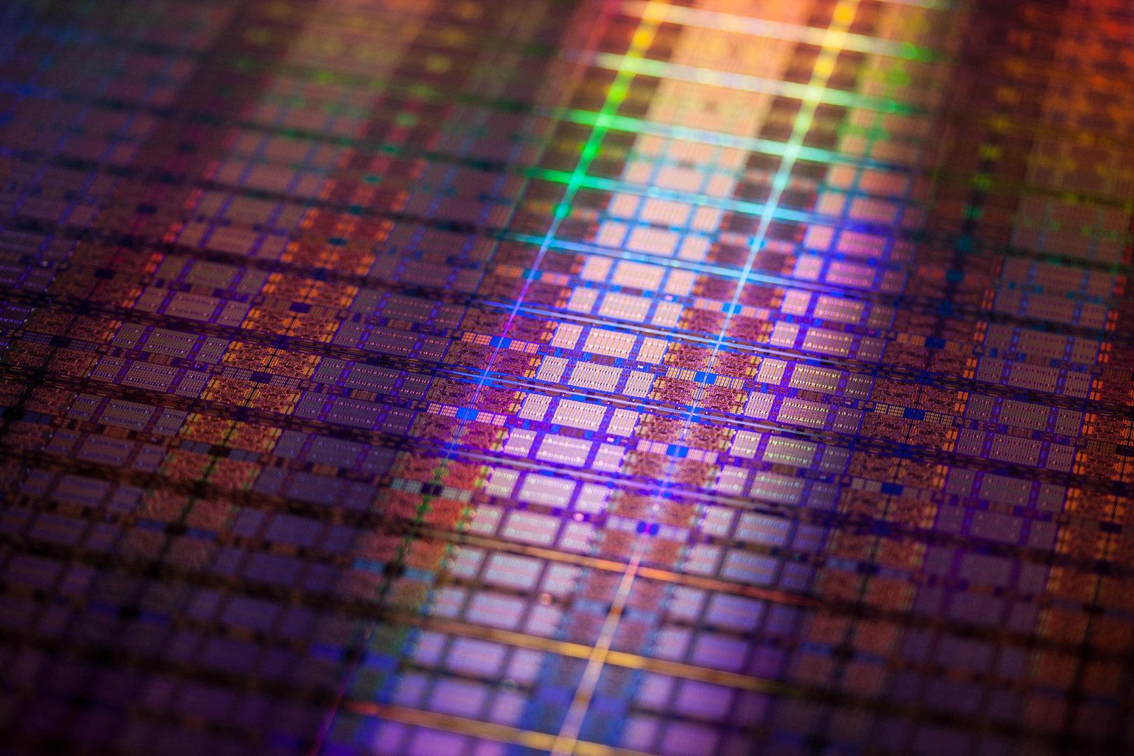 Wafer mit Intel Itanium 9500