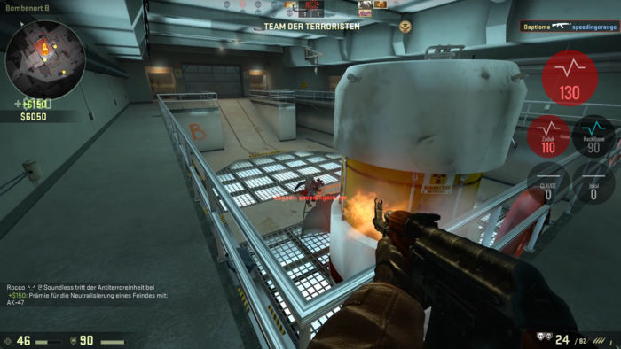 Info-Overlay im Spiel