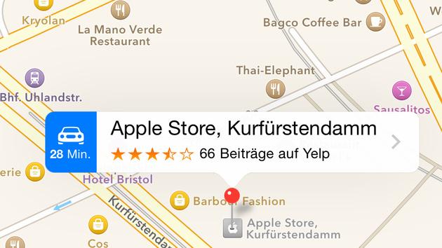 ÖPNV: Apple-Maps-Patentanträge zeigen öffentliche Verkehrsmittel