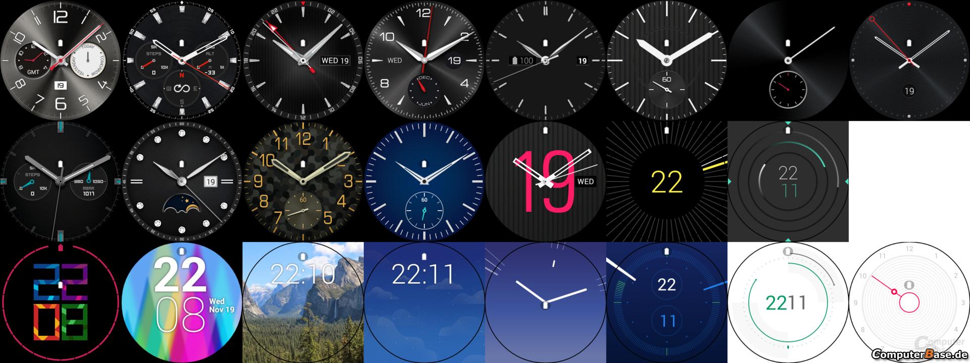 LG G Watch R – Ziffernblätter