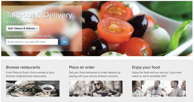 Einwohner von Seattle können Gerichte über Amazon bestellen