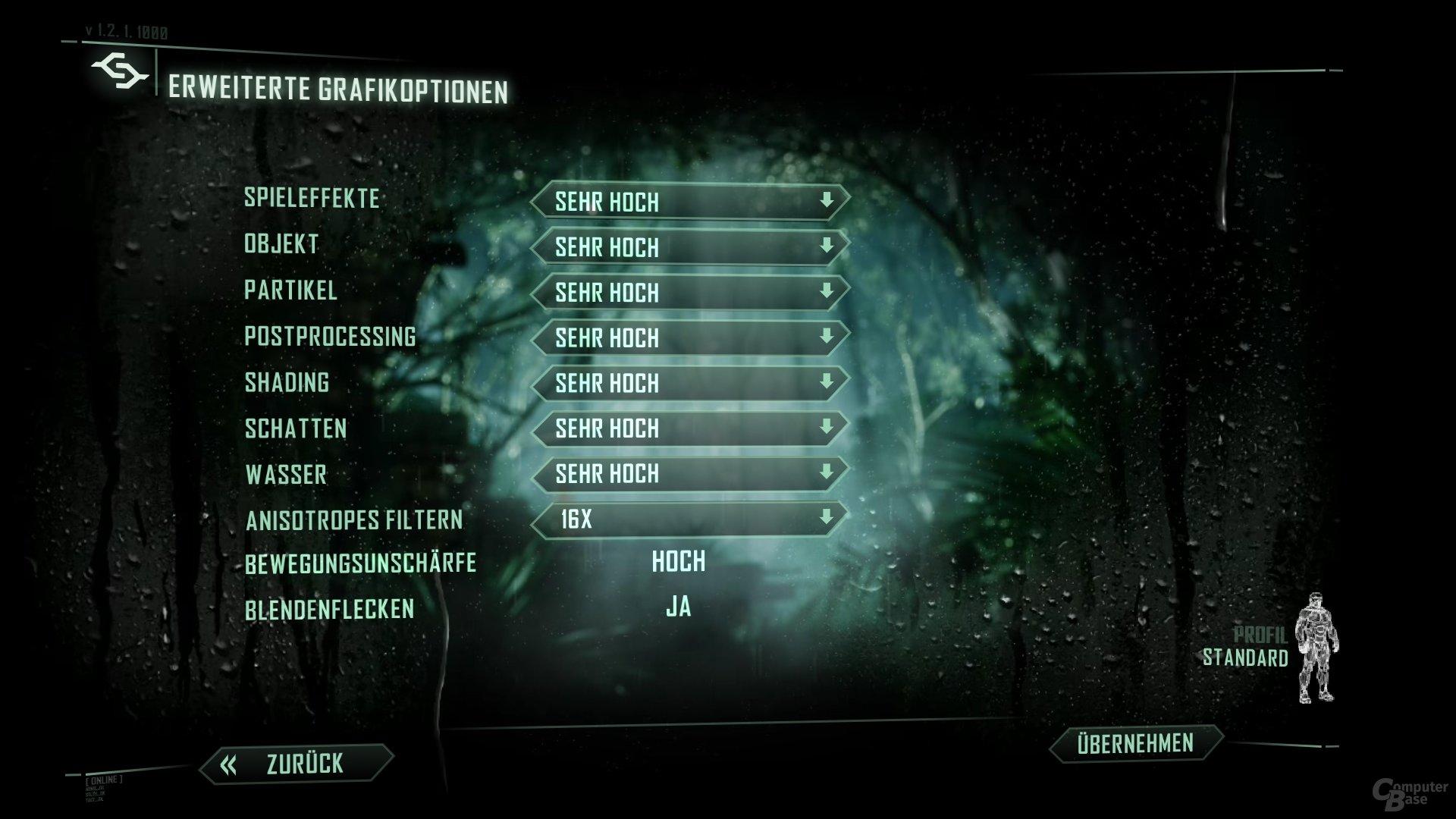 Optimierung bei Crysis 3 fehlgeschlagen