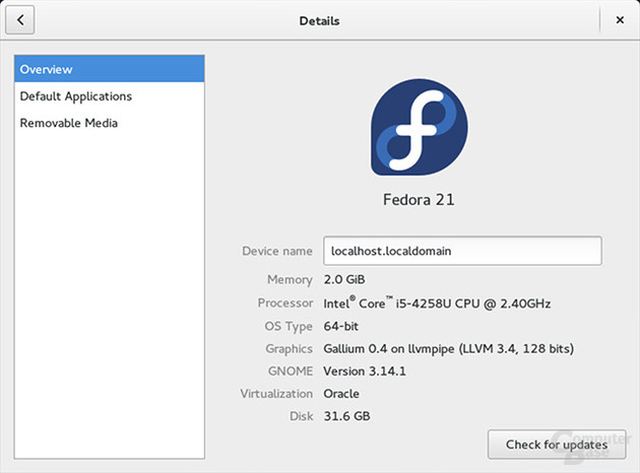 Fedora 21