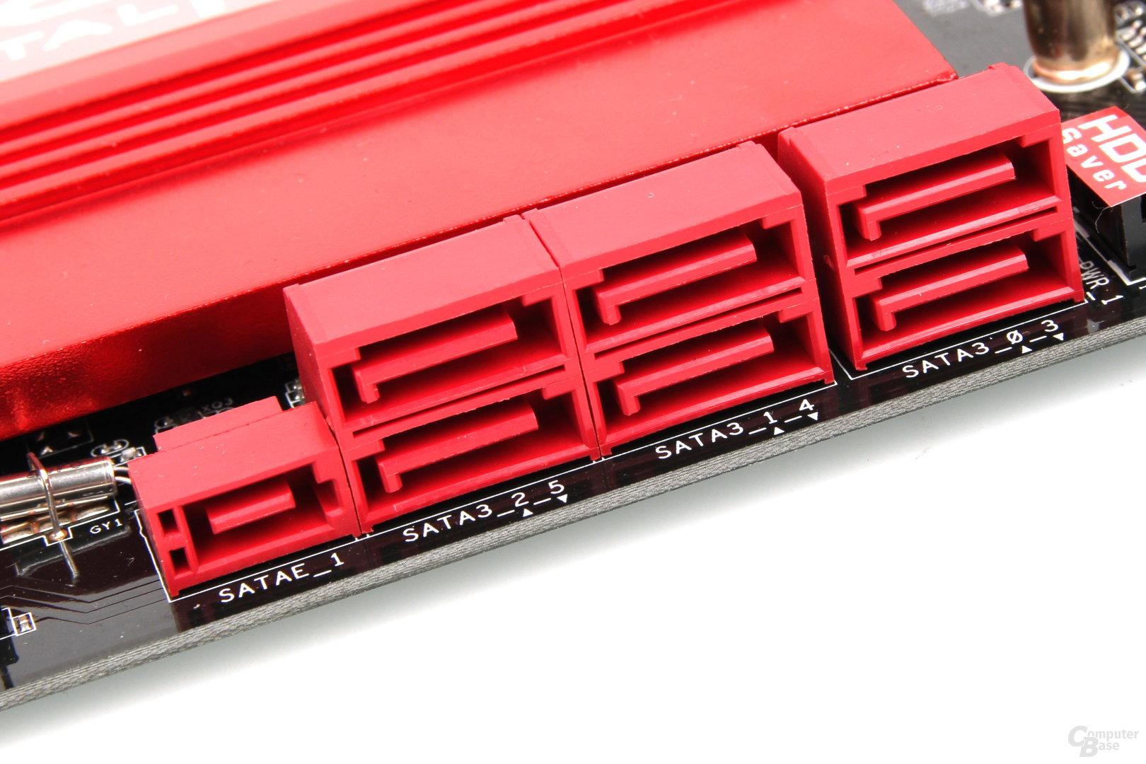 SATA-Express- und SATA-Schnittstellen