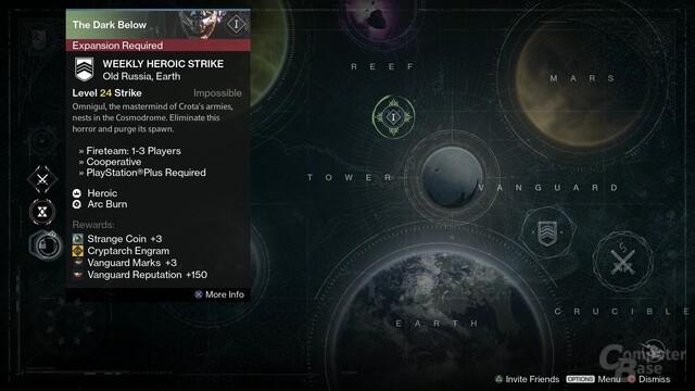 Der wöchentliche Strike ist nur für DLC-Besitzer zugänglich