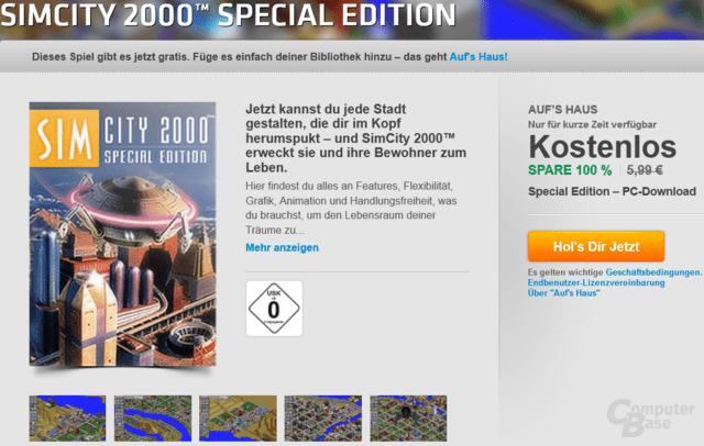 SimCity 2000 Special Edition zur Zeit gratis