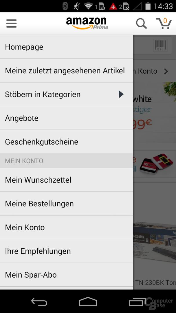 Neue Amazon-App ohne App-Shop