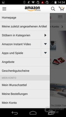 Alte Amazon-App mit App-Shop