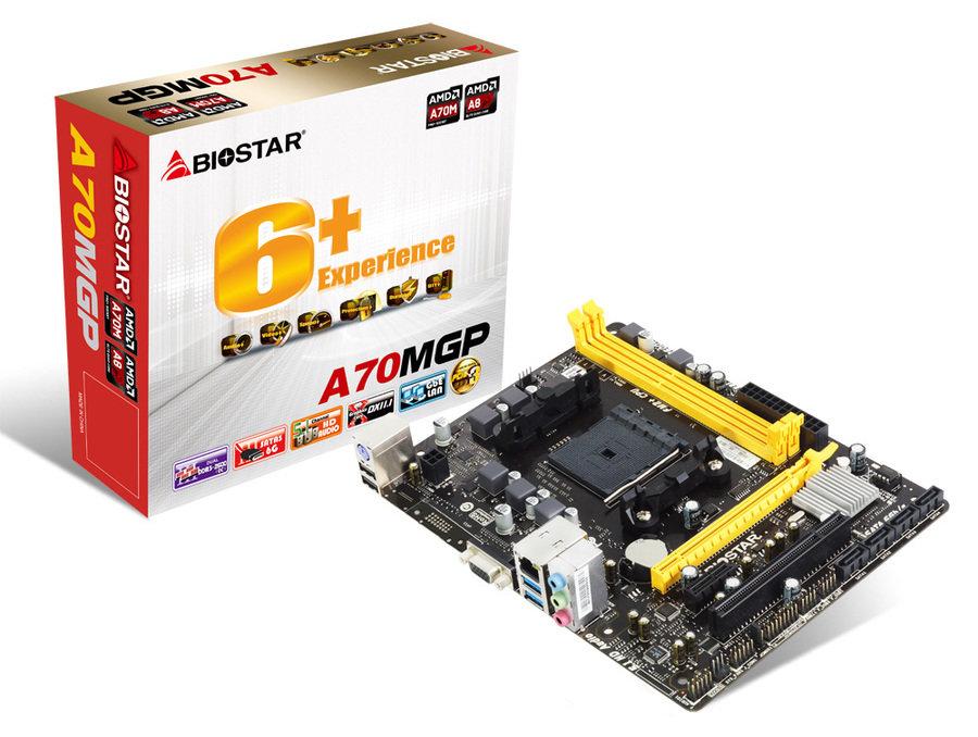 Biostar A70MGP – mit Verpackung
