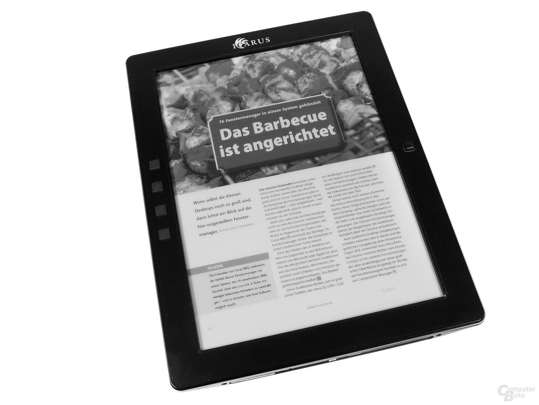 Der Icarus Excel 2014 als Lesegerät für E-Paper