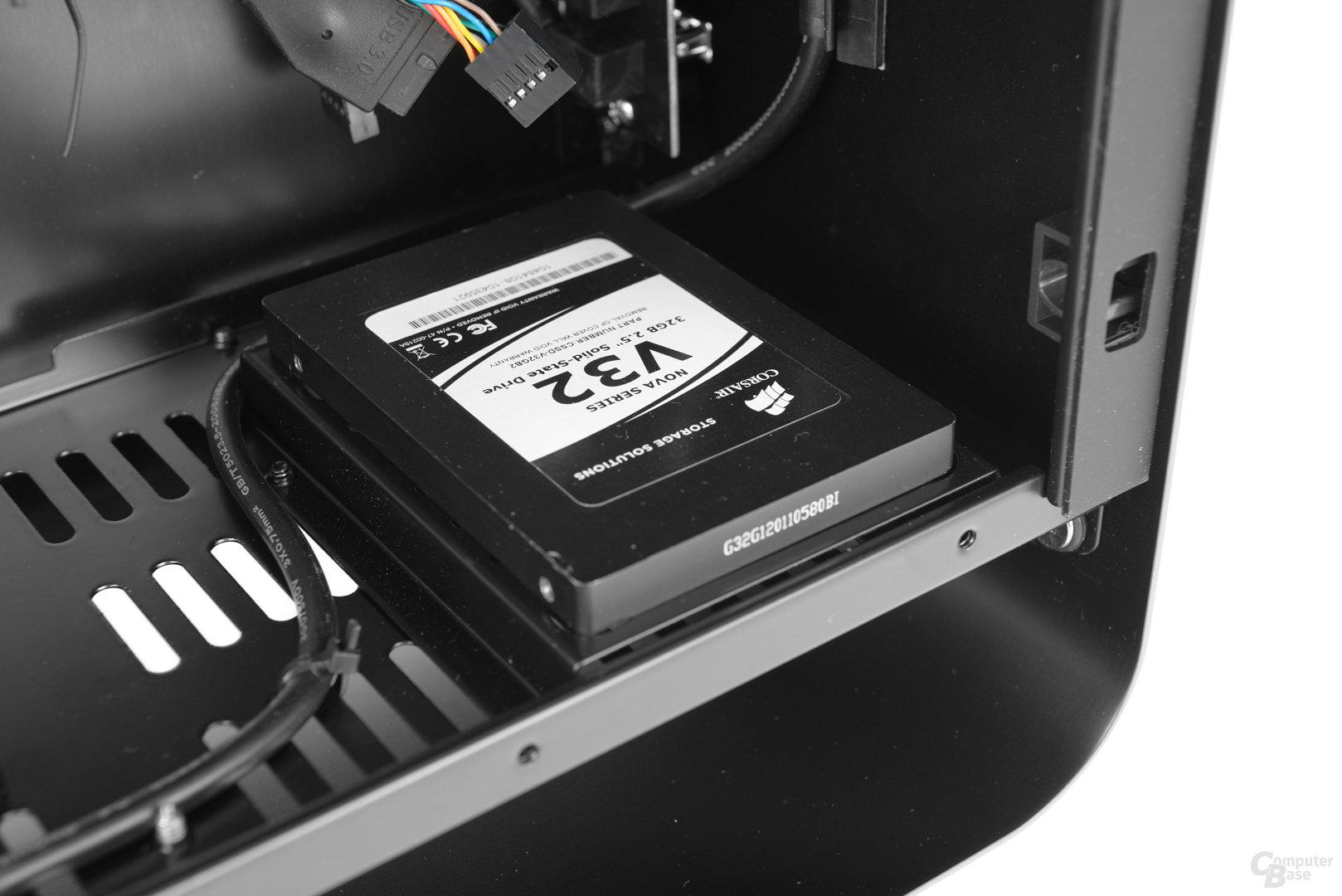 "Cooltek UMX1 Plus – 2,5""-Festplatte verbaut"