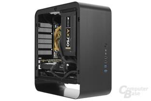 Cooltek UMX1 Plus – Testsystem seitlich
