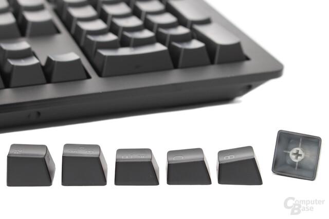 Tastenkappen aus ABS-Kunststoff mit Kreuzaufnahmen