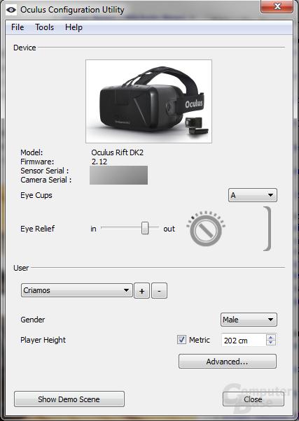 Oculus Configuration Utility (OCU)