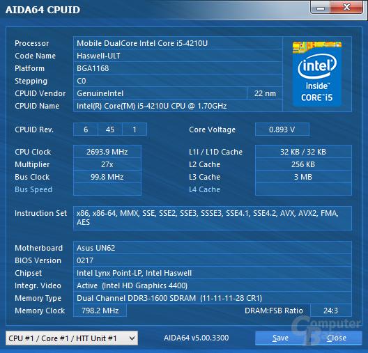Intel Core i5-4210U im Asus VivoMini UN62