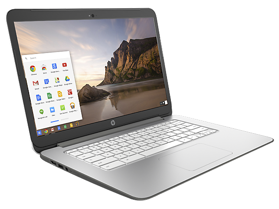HP Chromebook 14 Touch – von links