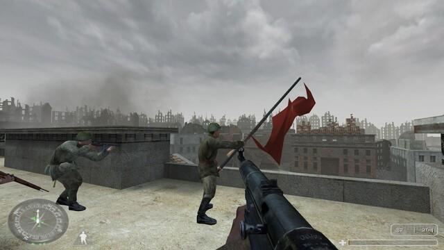 Hitler kaputt! Das Spiel endet symbolisch, aber ruhig.