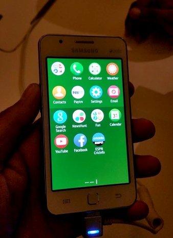 Samsung Tizen Z1 – das Display