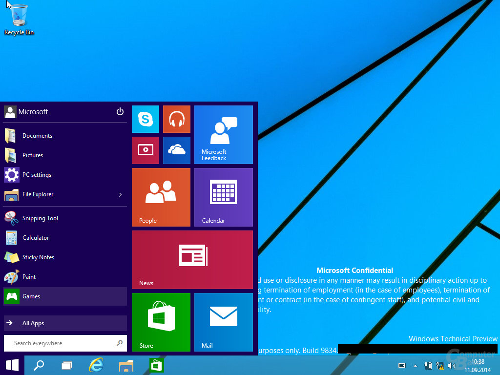Die Meldung des Jahres: Erste Screenshots von Windows 10