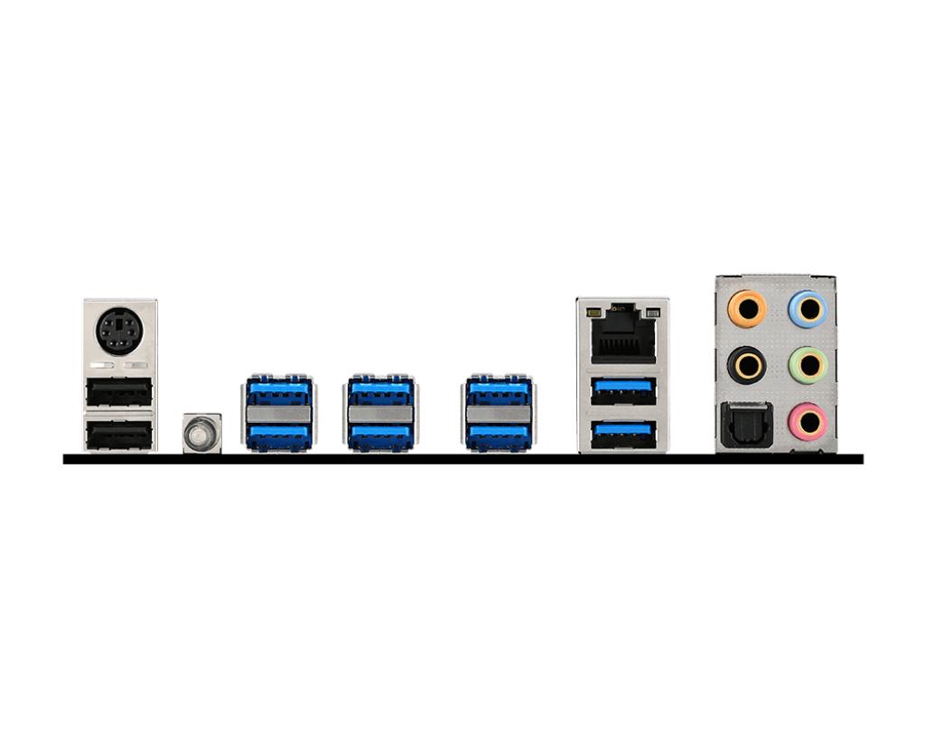 MSI X99S SLI Krait Edition – das I/O-Panel