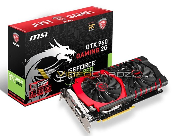 Die MSI GeForce GTX 960 Gaming 2G