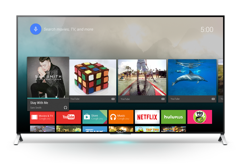Android TV auf Sonys Smart-TV