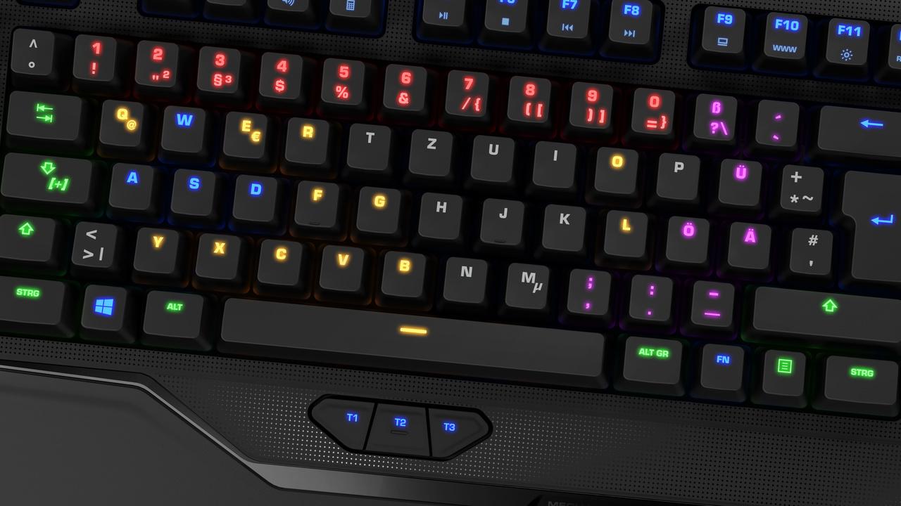 Roccat: Mechanische Tastaturen mit Handyhalter und RGB-LEDs