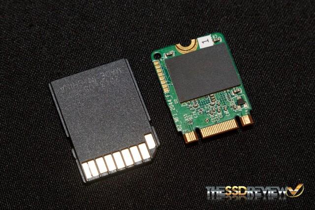 Modul mit Marvell 88NV1120 neben SD-Karte