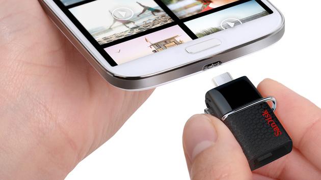 Ultra Dual Drive: SanDisks Smartphone-USB-Stick jetzt mit USB 3.0