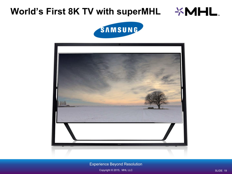 Samsungs 8K-Fernseher mit SuperMHL