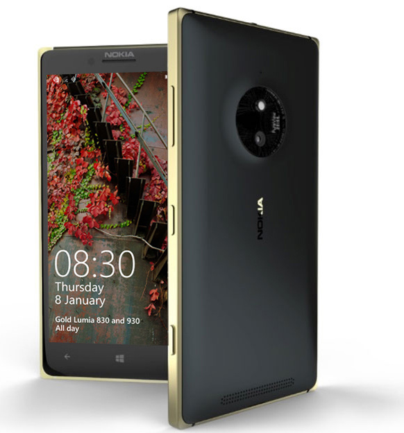 Nokia Lumia 830 in Gold