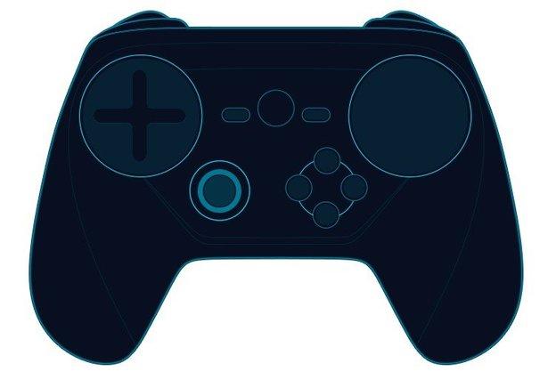 Ein Entwurf des Steam Controllers mit D-Pad