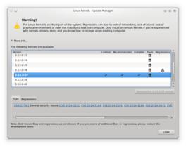 Update Manager für Kernel
