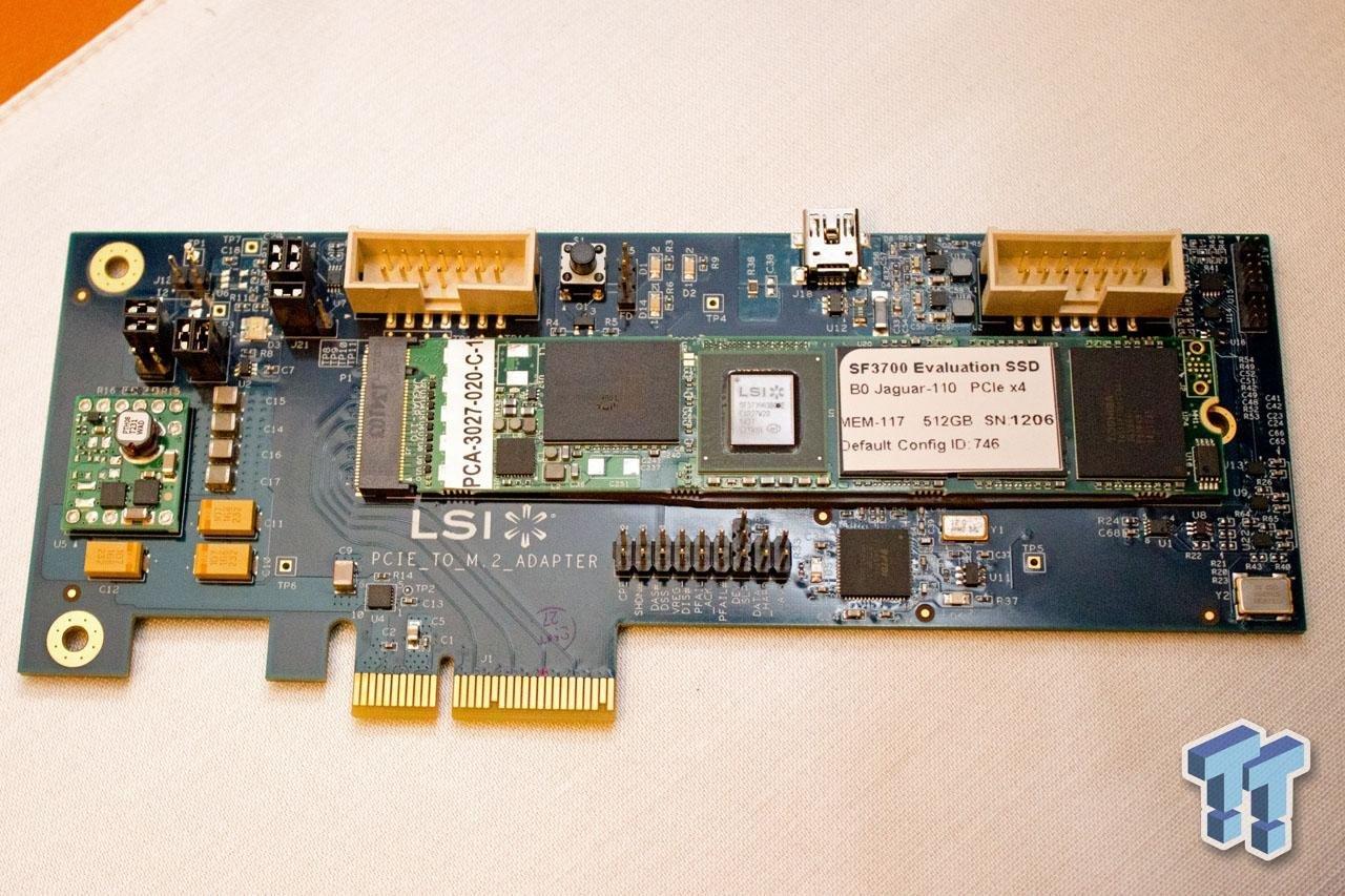 Referenz-SSD mit SF3700 auf PCIe-Adapter