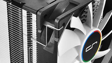 Cryorig H7: Kompakter Prozessorkühler in Schwarz-Weiß-Optik