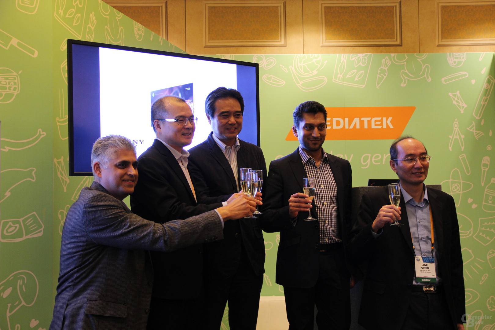 MediaTek, Google und Sony stoßen auf die Partnerschaft an